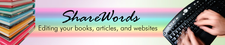 ShareWords: Editing your books, articles, and websites